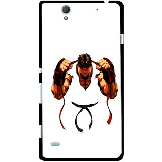 Snooky Printed Karate Boy Mobile Back Cover For Sony Xperia C4 - Multicolour