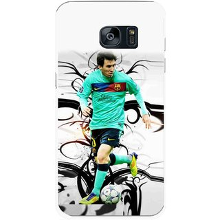 Snooky Printed Football Champion Mobile Back Cover For Samsung Galaxy S7 Edge - Multicolour