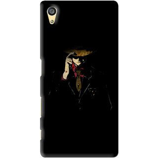 Snooky Printed Cow Bow Mobile Back Cover For Sony Xperia Z5 - Multi