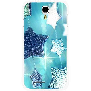 Snooky Printed Sparkling Stars Mobile Back Cover For Micromax Canvas Juice A177 - Multicolour