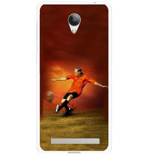 Snooky Printed Football Mania Mobile Back Cover For Vivo Y28 - Multicolour