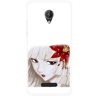 Snooky Printed Chinies Girl Mobile Back Cover For Micromax Canvas Spark Q380 - Multicolour