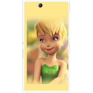 Snooky Printed Butterfly Girl Mobile Back Cover For Sony Xperia Z Ultra - Yellow