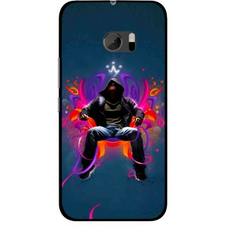 Snooky Printed Live In Attitude Mobile Back Cover For HTC One M10 - Blue