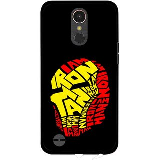 Snooky Printed I am Man Mobile Back Cover For LG K10 2017 - Multi