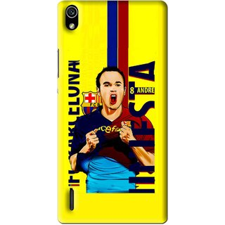 Snooky Printed Sportsplayer Mobile Back Cover For Huawei Ascend P7 - Multi
