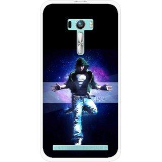 Snooky Printed Hug Me Mobile Back Cover For Asus Zenfone Selfie - Black