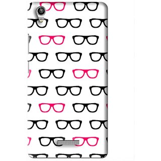 Snooky Printed Spectacles Mobile Back Cover For Lava Pixel V1 - Multi