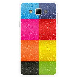 Snooky Printed Water Droplets Mobile Back Cover For Samsung Galaxy E7 - Multicolour