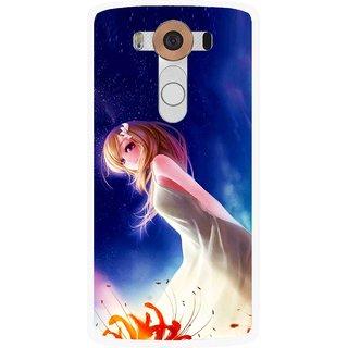 Snooky Printed Angel Girl Mobile Back Cover For Lg V10 - Multi