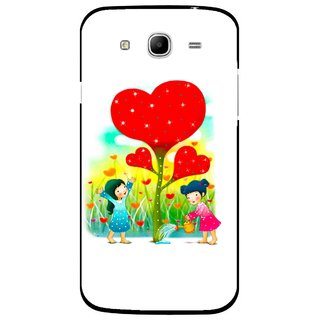 Snooky Printed Heart Plant Mobile Back Cover For Samsung Galaxy Mega 5.8 - White