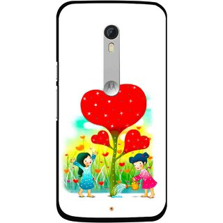 Snooky Printed Heart Plant Mobile Back Cover For Motorola Moto X Style - White