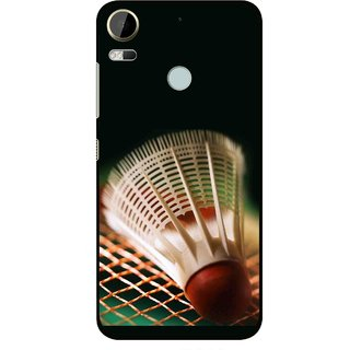 Snooky Printed Badminton Mobile Back Cover For HTC Desire 10 Pro - Multi