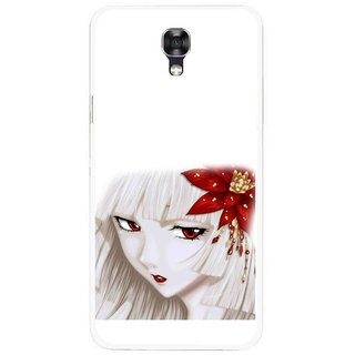 Snooky Printed Chinies Girl Mobile Back Cover For Lg X Screen - Multicolour