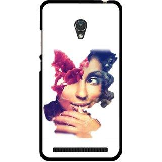Snooky Printed Vintage Girl Mobile Back Cover For Asus Zenfone Go ZC451TG - Multicolour