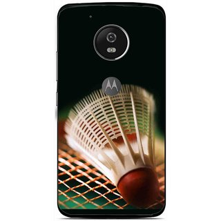 Snooky Printed Badminton Mobile Back Cover For Moto G5 - Multi