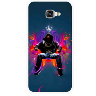 Snooky Printed Live In Attitude Mobile Back Cover For Samsung Galaxy A7 2016 - Blue