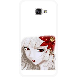Snooky Printed Chinies Girl Mobile Back Cover For Samsung Galaxy A3 (2016) - Multicolour