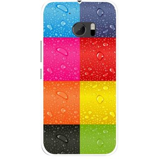 Snooky Printed Water Droplets Mobile Back Cover For HTC One M10 - Multicolour