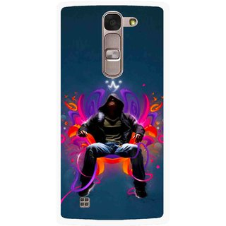 Snooky Printed Live In Attitude Mobile Back Cover For Lg Spirit - Blue