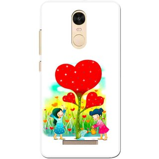 Snooky Printed Heart Plant Mobile Back Cover For Gionee S6s - White