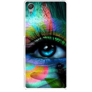 Snooky Printed Designer Eye Mobile Back Cover For Sony Xperia X - Multicolour