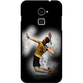 Snooky Printed Badminton Mania Mobile Back Cover For Coolpad Note 3 Lite - Black