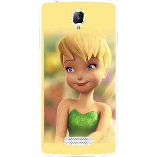 Snooky Printed Butterfly Girl Mobile Back Cover For Oppo Neo 3 R831k - Yellow