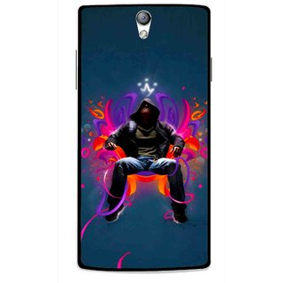 Snooky Printed Live In Attitude Mobile Back Cover For Oppo Find 5 Mini - Blue