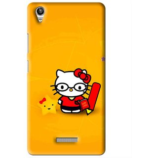Snooky Printed Kitty Study Mobile Back Cover For Lava Pixel V1 - Multi