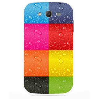 Snooky Printed Water Droplets Mobile Back Cover For Samsung Galaxy Grand I9082 - Multicolour