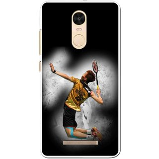 Snooky Printed Badminton Mania Mobile Back Cover For Gionee S6s - Black