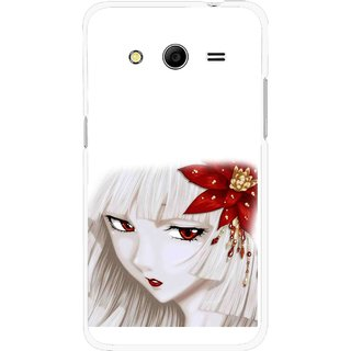 Snooky Printed Chinies Girl Mobile Back Cover For Samsung Galaxy G355 - Multicolour