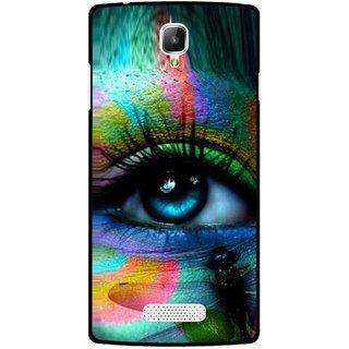 Snooky Printed Designer Eye Mobile Back Cover For Oppo Neo 3 R831k - Multicolour