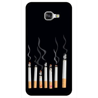 Snooky Printed Smoking Mobile Back Cover For Samsung Galaxy A7 2016 - Multicolour