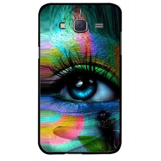 Snooky Printed Designer Eye Mobile Back Cover For Samsung Galaxy J7 - Multicolour