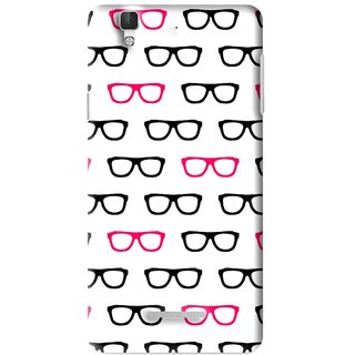 Snooky Printed Spectacles Mobile Back Cover For Micromax YU YUREKA - Multi