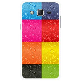 Snooky Printed Water Droplets Mobile Back Cover For Samsung Galaxy On7 - Multicolour