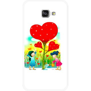 Snooky Printed Heart Plant Mobile Back Cover For Samsung Galaxy A7 2016 - White