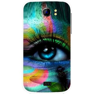 Snooky Printed Designer Eye Mobile Back Cover For Micromax Canvas 2 A110 - Multicolour