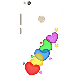 Snooky Printed Colorfull Hearts Mobile Back Cover For Huawei Honor 8 Lite - White