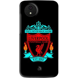 Snooky Printed Football Club Mobile Back Cover For Micromax Canvas Android One - Multi