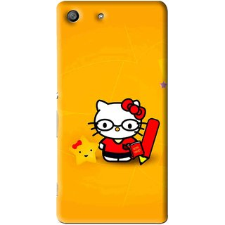 Snooky Printed Kitty Study Mobile Back Cover For Sony Xperia M5 - Multi