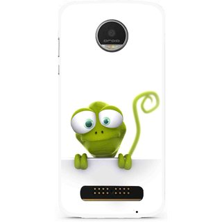 Snooky Printed Seeking Alien Mobile Back Cover For Moto Z Play - White