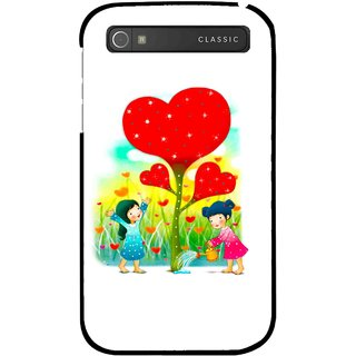 Snooky Printed Heart Plant Mobile Back Cover For Blackberry Classic - White