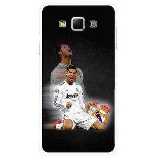 Snooky Printed Football Champion Mobile Back Cover For Samsung Galaxy E7 - Multicolour