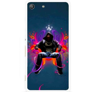 Snooky Printed Live In Attitude Mobile Back Cover For Sony Xperia M5 - Blue