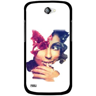 Snooky Printed Vintage Girl Mobile Back Cover For Gionee Pioneer P3 - Multicolour