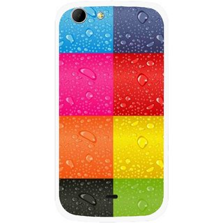 Snooky Printed Water Droplets Mobile Back Cover For Micromax Canvas 4 A210 - Multicolour