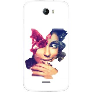 Snooky Printed Vintage Girl Mobile Back Cover For Micromax Bolt A068 - Multicolour
